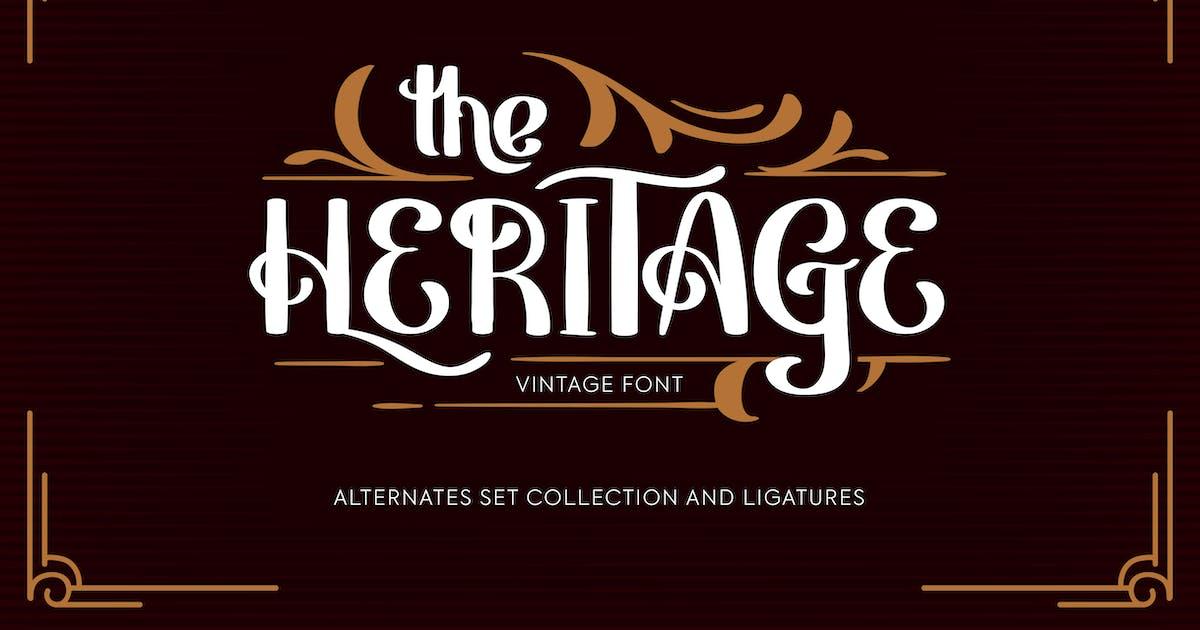 Download Heritage | Vintage Font by Vunira