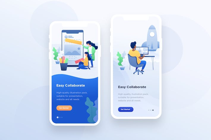 Thumbnail for Startup Illustration - Mobile Onboarding