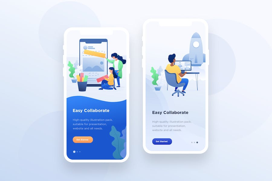 Startup Illustration - Mobile Onboarding