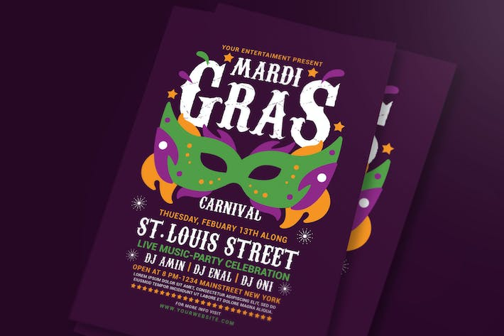 Mardi Gras Flyer Template