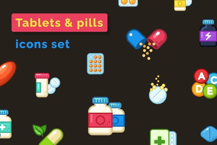 Pills & Tablets Icons Set