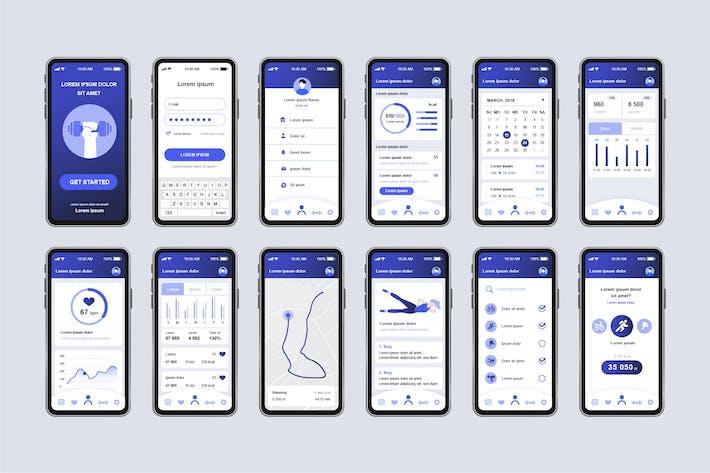 Thumbnail for Fitness Workout Unique Mobile App UI Kit