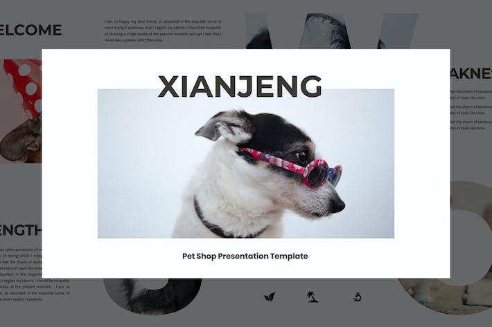 Cover Image For XIANJING — Pet Shop PowerPoint Шаблон