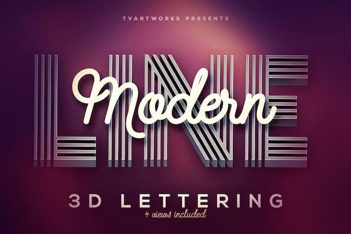 Thumbnail for Modern Lines 3D Lerttering