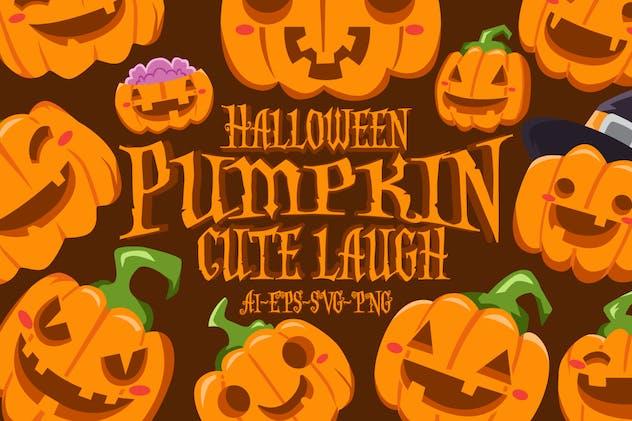 Halloween Cute Pumpkin Laugh