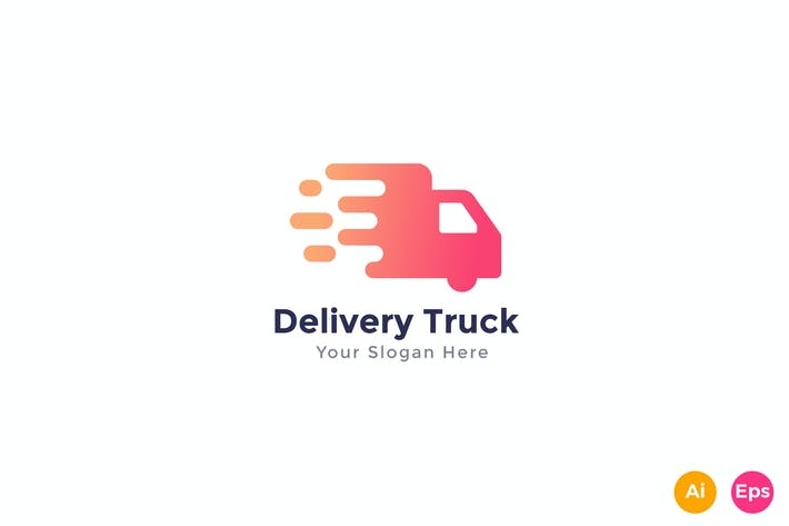 Thumbnail for Fast Delivery Truck Logo Template