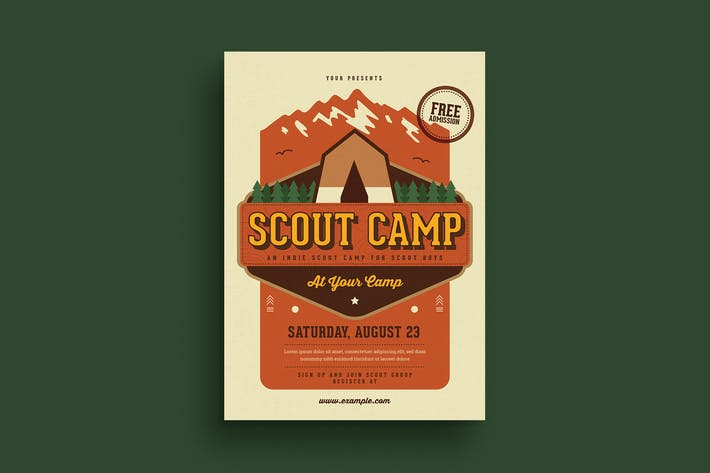 Thumbnail for Scout Camp Flyer