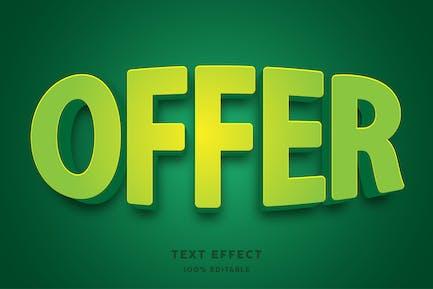 Green modern text effect