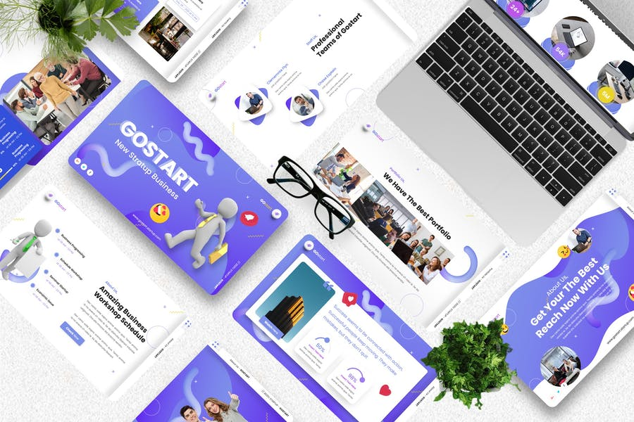 Gostart - Startup Keynote Template