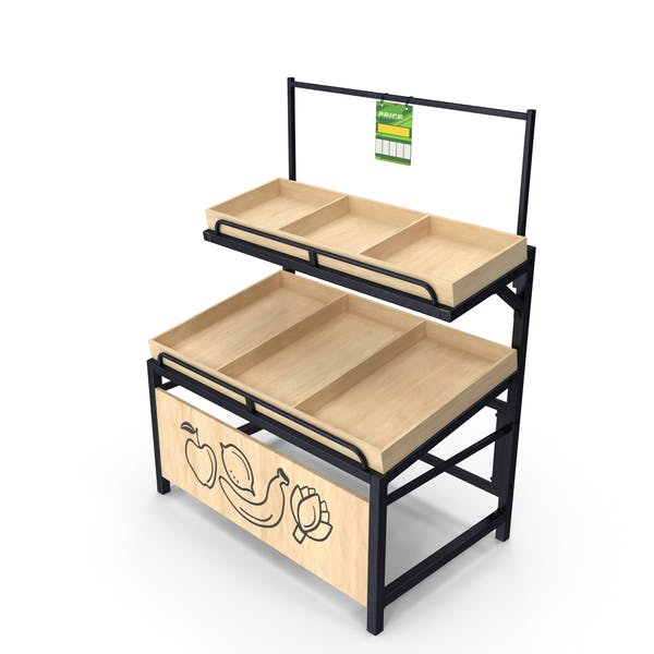 Thumbnail for Wooden Fruit And Veggies Display Rack
