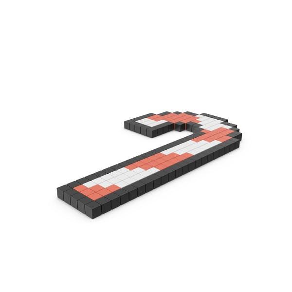 Пиксельные конфеты значок тростника