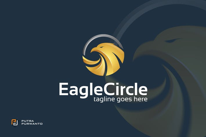 Thumbnail for Eagle Circle - Logo Template