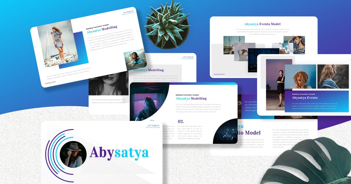 Download Abysatya - Modelling Keynote Templates by Yumnacreative