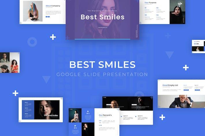 Thumbnail for Лучшие улыбки - Google Слайд Шаблон