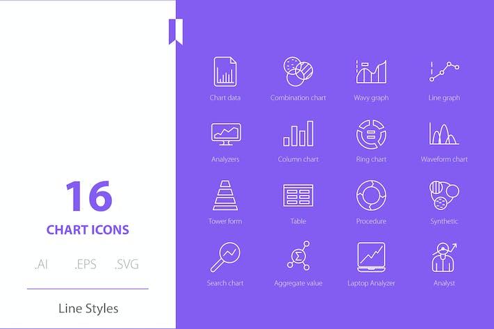 Styles de ligne d'icônes graphiques