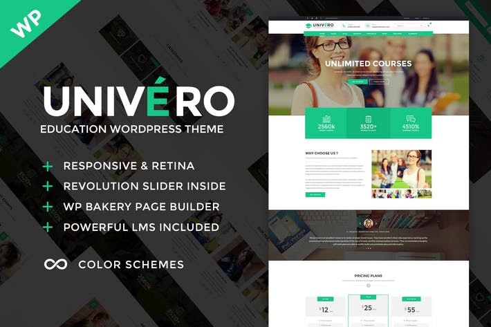 Thumbnail for Univero - Education LMS & Courses WordPress Theme