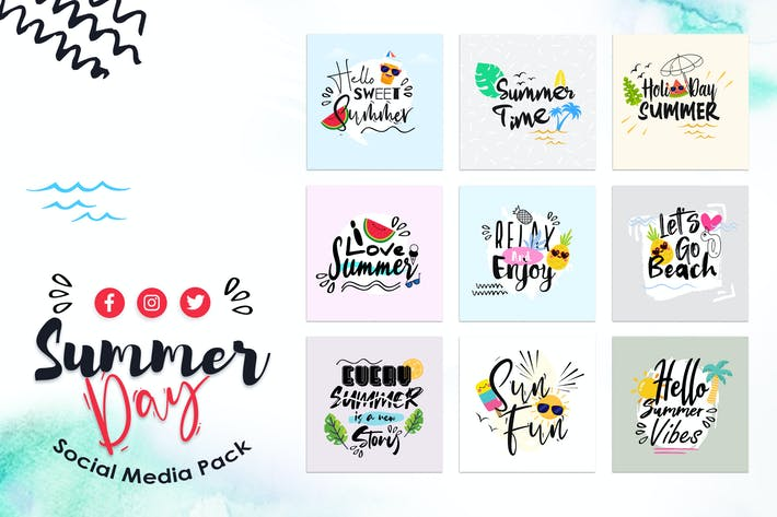 Thumbnail for Summer Day Social Media Template