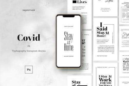 Covid Typography  Instagram Stories
