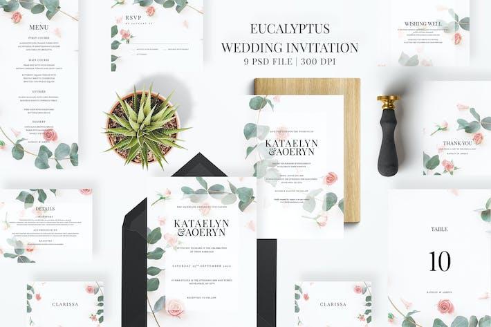 Thumbnail for Eucalyptus Wedding Invitation