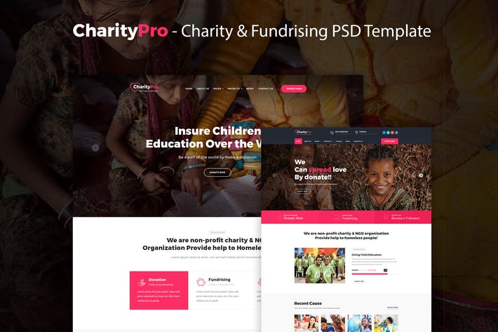 Thumbnail for CharityPro - Charity & Fundraising PSD Template