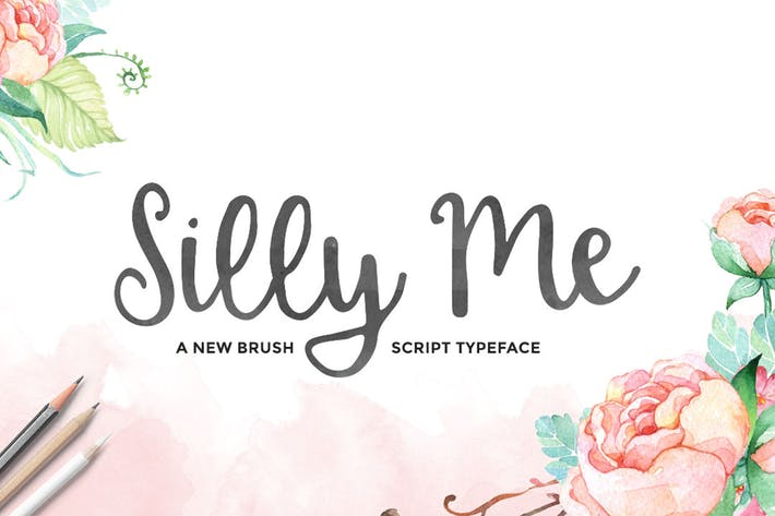 Thumbnail for Silly Me Script Font