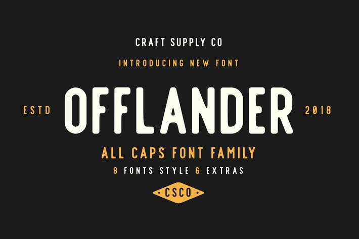 Thumbnail for Offlander - Font Family