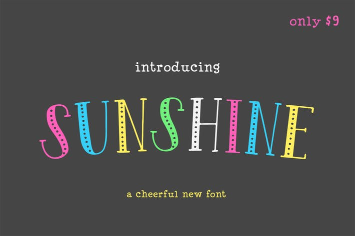 Thumbnail for Sunshine Font