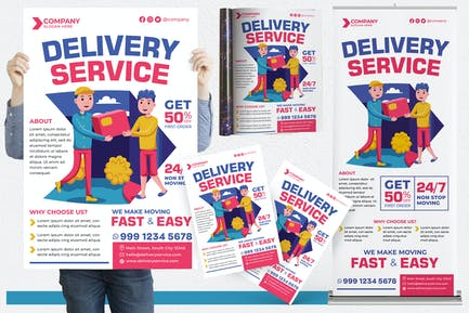 Delivery Service #01 Print Templates Pack