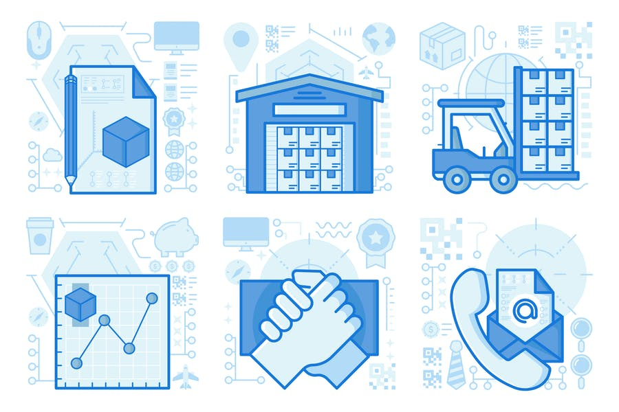 Contact Information UI UX Illustrations