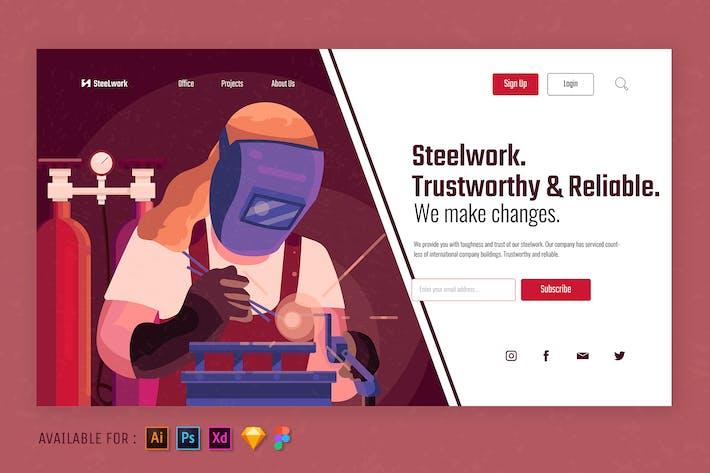 Thumbnail for Métallurgie pour la construction - Illustration Web