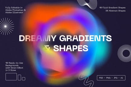 Dreamy Gradients & Shapes