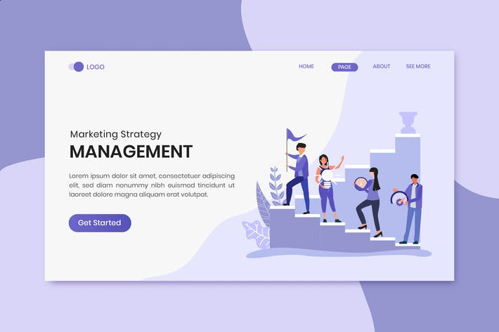 Thumbnail for Management Marketing Strategy Landing Page