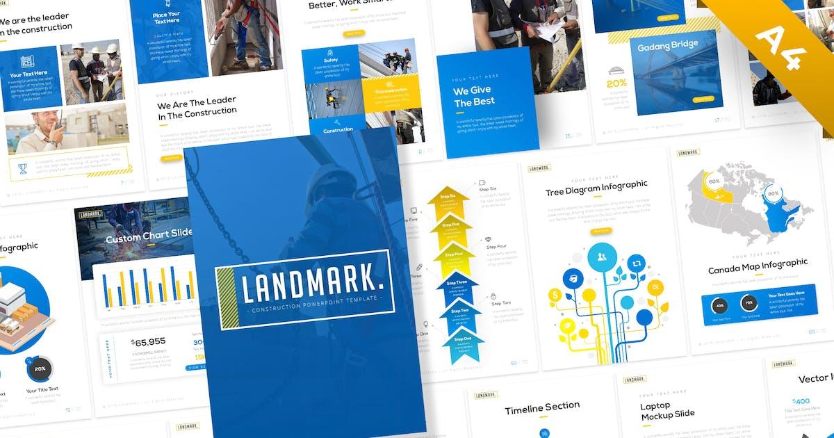 Download Landmark Portrait Construction PowerPoint Template by BrandEarth