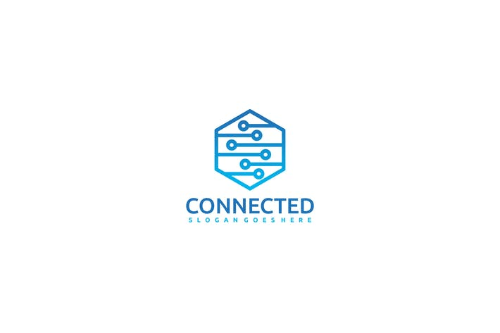 Cover Image For Connected Hexagon Logo