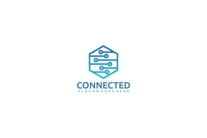 Connected Hexagon Logo