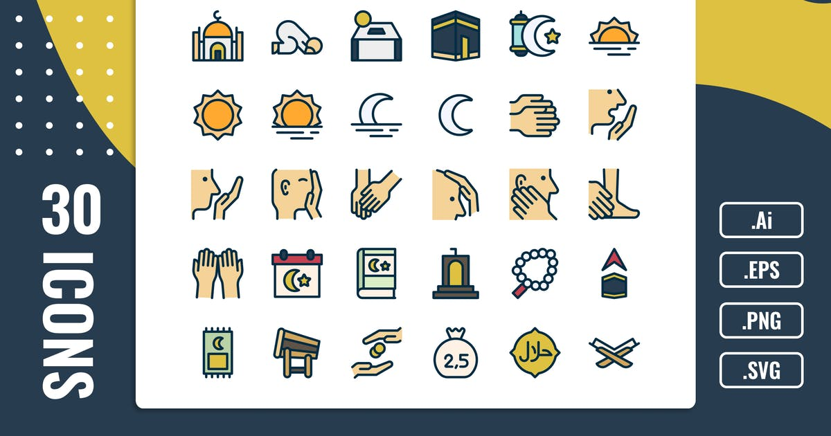 Download 30 Iconset Islamic with 5 styles variant by SlideFactory