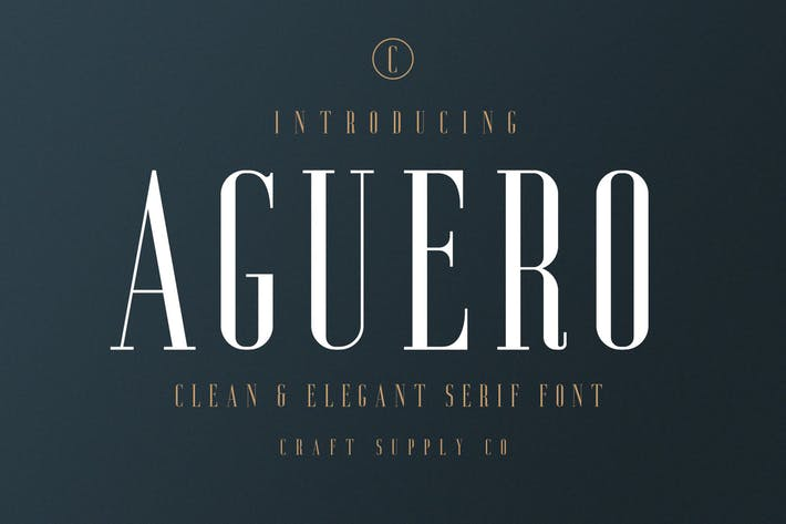 Thumbnail for Aguero Serif - Clean & Elegant Font
