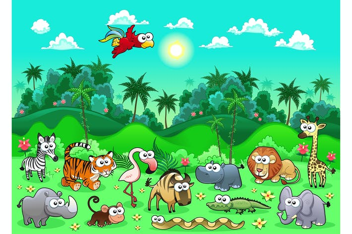 Cover Image For Jungle Animals
