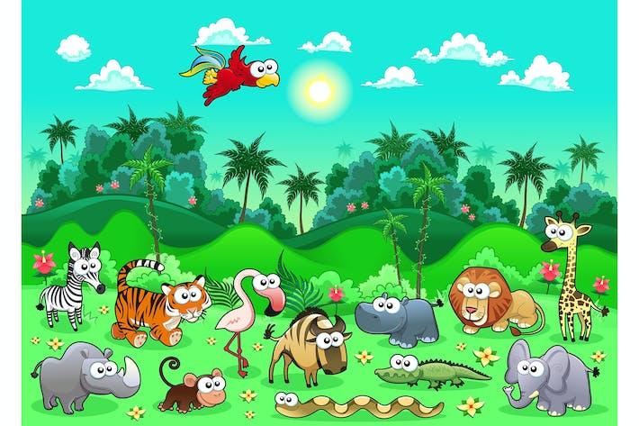 Thumbnail for Animaux de la jungle