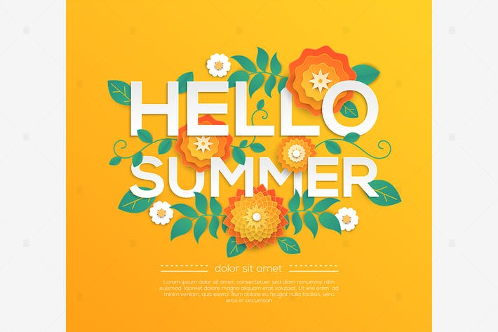 Thumbnail for Hello summer - modern vector colorful illustration