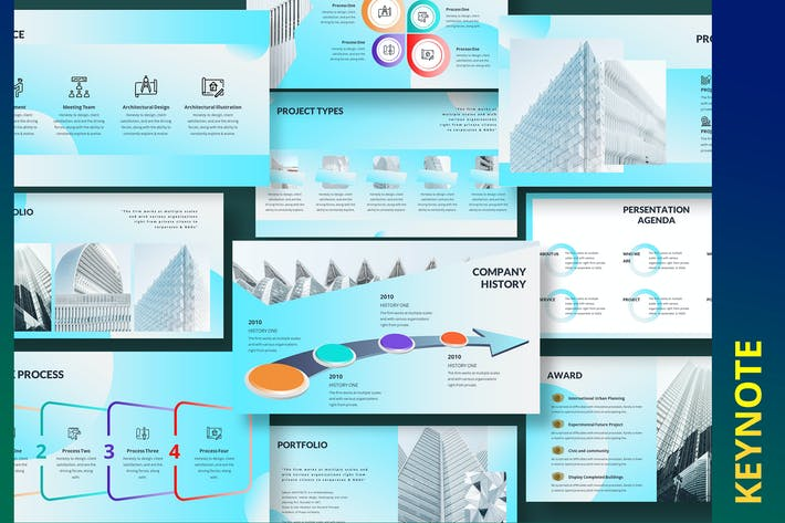 Thumbnail for Gakuin Construction Building Keynote Template