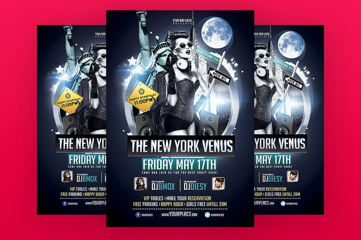 Thumbnail for New York Venus Flyer Template