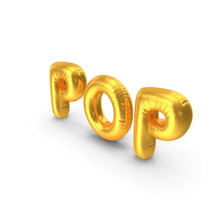 Folienballon Wörter Pop Gold