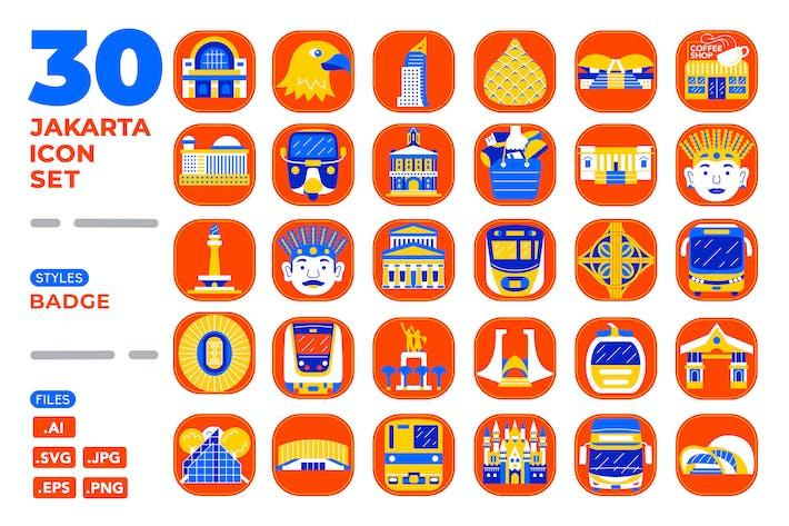 Thumbnail for Jakarta Icon Set (Badge)