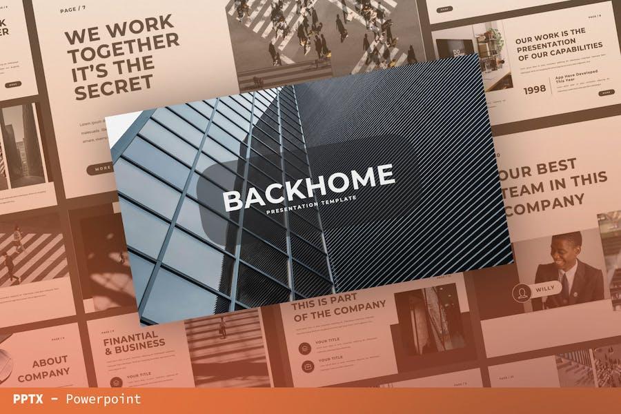 Шаблон презентации Backhome
