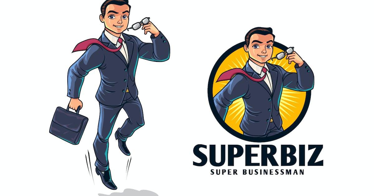 Download Young Superhero Businessman Character Mascot Logo by Suhandi