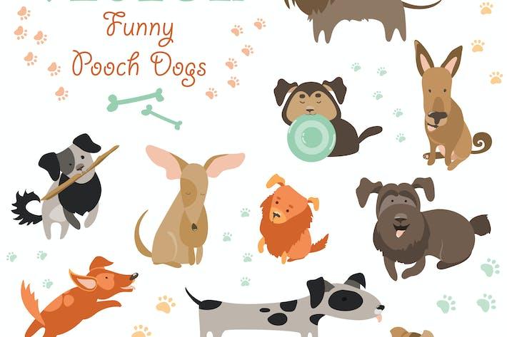 Thumbnail for Набор смешных собак смешанных пород