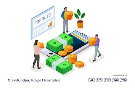 Crowdfunding Project Isometric