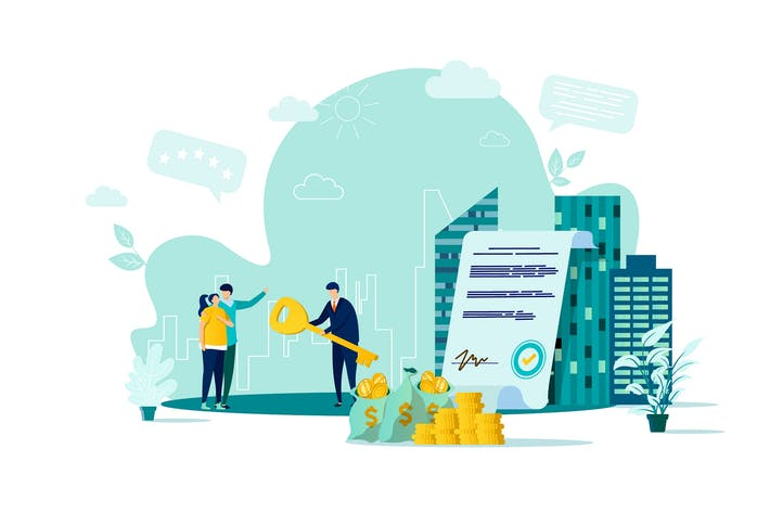 Thumbnail for Real Estate Flat Concept Vector Illustration