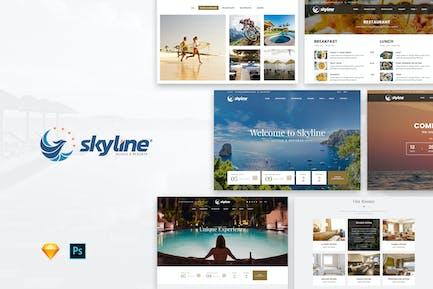 SkyLine   Modèle Web de réservation d'hôtel
